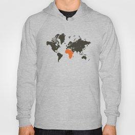 world map, Africa Hoody