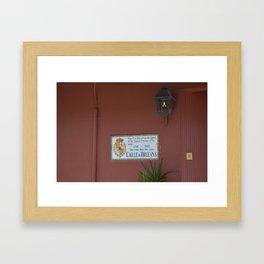 Calle d'Orleans Framed Art Print