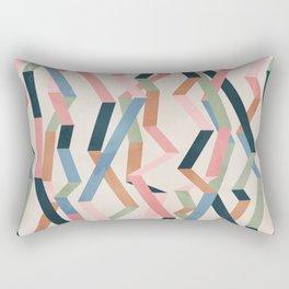 Straight Geometry Ribbons 1 Rectangular Pillow