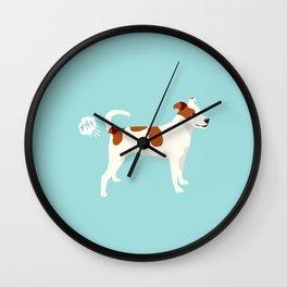 Dog Fart -Terrier Dogs, dog, dog print, dog fart, Wall Clock