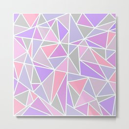 Pastel Shards Geometric Pattern Metal Print