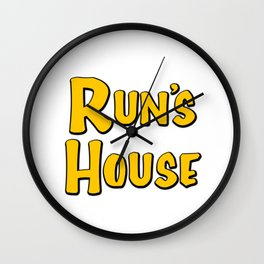 Run's House (Fuller House) Wall Clock