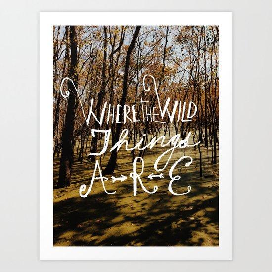 the wild things Art Print