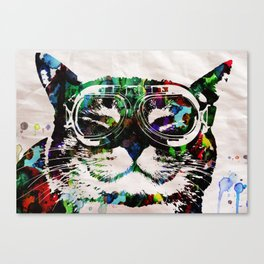 Watercolor Cat Painter - Prints and posters by Robert R POP ART CUTE PETS Canvas Print