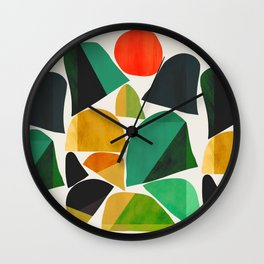 Mountains as the giants Wall Clock