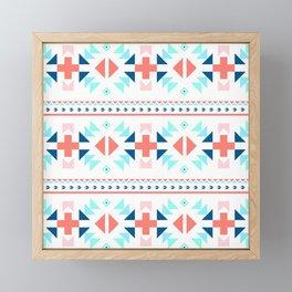 geometry navajo pattern Framed Mini Art Print