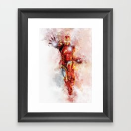 The incredible man of iron Framed Art Print