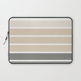 Neutral beige and gray colors stripes Laptop Sleeve