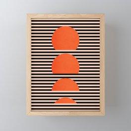 Abstraction_SUNSET_LINE_ART_Minimalism_001 Framed Mini Art Print