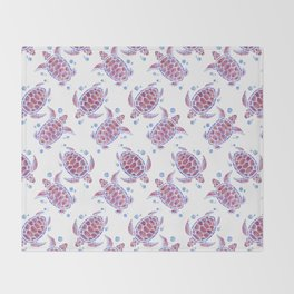 Beautiful Decorative Abstract Turtles Throw Blanket