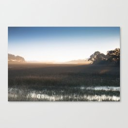 Marsh at Hazy Sunrise Canvas Print