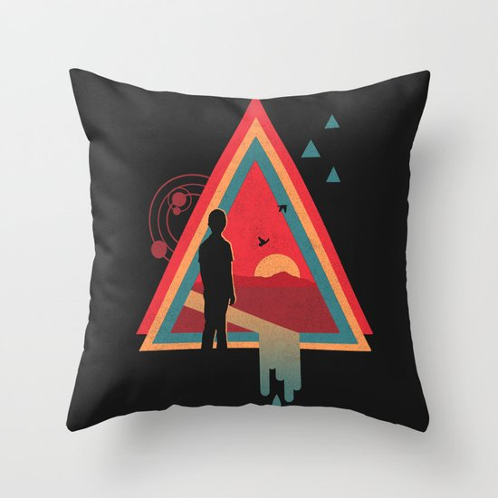 Stare into the Sun Throw Pillow
