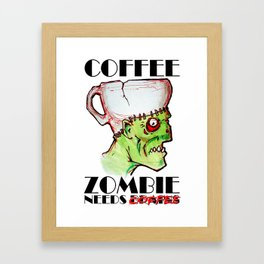 coffee zombie Framed Art Print