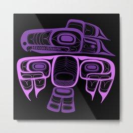 Tlingit thunderbird purple Metal Print