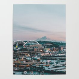 Seattle & Mount Rainier Poster