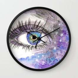 Eye in the Universe Wall Clock