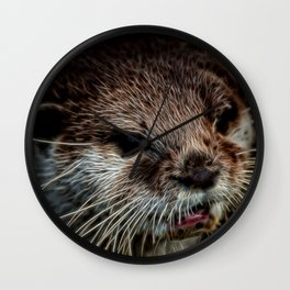 Otters Sweet Face Wall Clock
