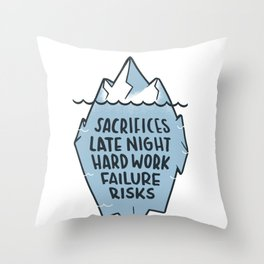 success iceberg Throw Pillow