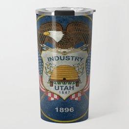 Utah State Flag, vintage retro style Travel Mug