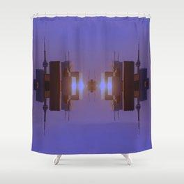 Skyline Symmetry in Toronto, Ontario  Shower Curtain