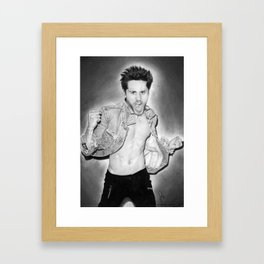 Jared Leto (30 Seconds To Mars) Portrait. Framed Art Print