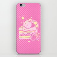 kirby iPhone & iPod Skins featuring Kirby Cake by Miski