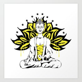 Buda Drip Drip Art Print
