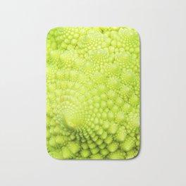 Closeup on Green cauliflower Bath Mat