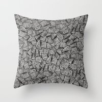 decal Throw Pillows featuring Chaos!! by Alejandro Ayala