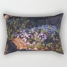 Wildflowers at Dawn - Nature Photography Rectangular Pillow