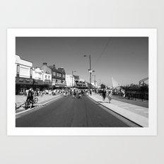 Seaside Sun, black&white Art Print