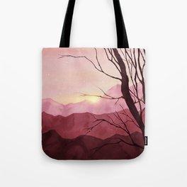Sunset & landscape Tote Bag