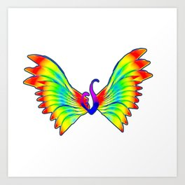 Eating disorder butterfly Art Print