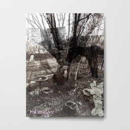 Ghosts in the Yard Metal Print