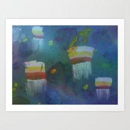 Cuboid Jellyfish Art Print