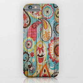 Kashmir on Wood 02 iPhone Case