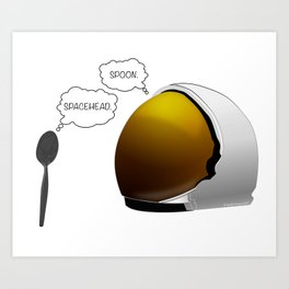 Spoon. Spacehead. Art Print