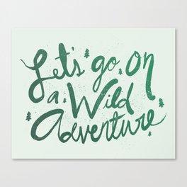 Wild Adventure Type Canvas Print
