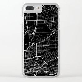 Street MAP Johannesburg // Black&White Clear iPhone Case