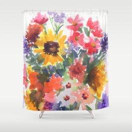 Sunny Summer Sunflowers Shower Curtain