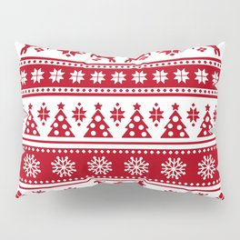 Christmas Holiday Nordic Pattern Cozy Pillow Sham