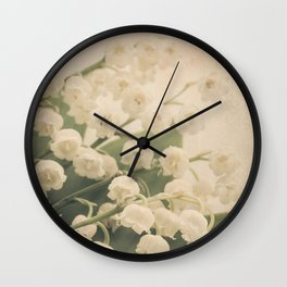 Scents of Spring - Lily of the Valley ii Wall Clock