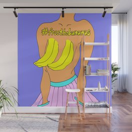 Free the Bananas Illustration Wall Mural