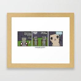 Awkward Demon: Demon Kitten Framed Art Print