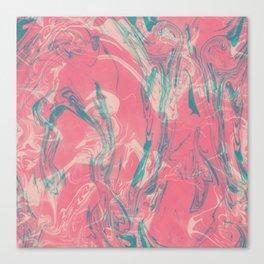 Adrift - Abstract Suminagashi Marble Series - 04 Canvas Print