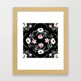 Magnolias, Eucalyptus & Anemones Framed Art Print