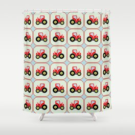 Toy tractor pattern Shower Curtain