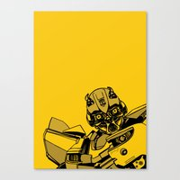 transformers Canvas Prints featuring Transformers: Bumblebee by Skullmuffins