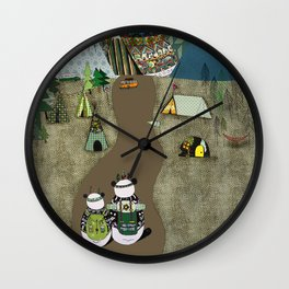 Camping is the answer Wall Clock