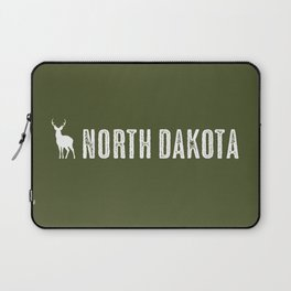 Deer: North Dakota Laptop Sleeve